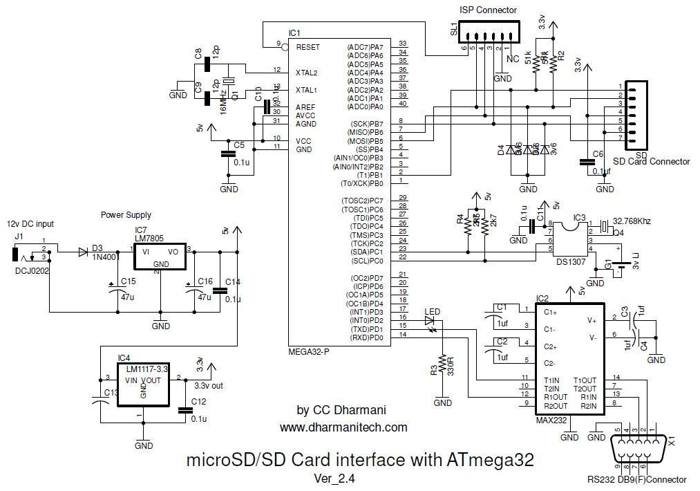 u0026gt  circuits  u0026gt  sd sdhc card interfacing with atmega8 32 fat32 implementation l38460