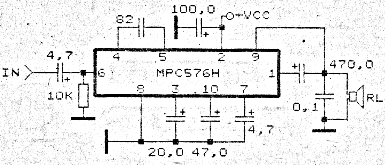 install mpc576h amplifier circuit diagrams