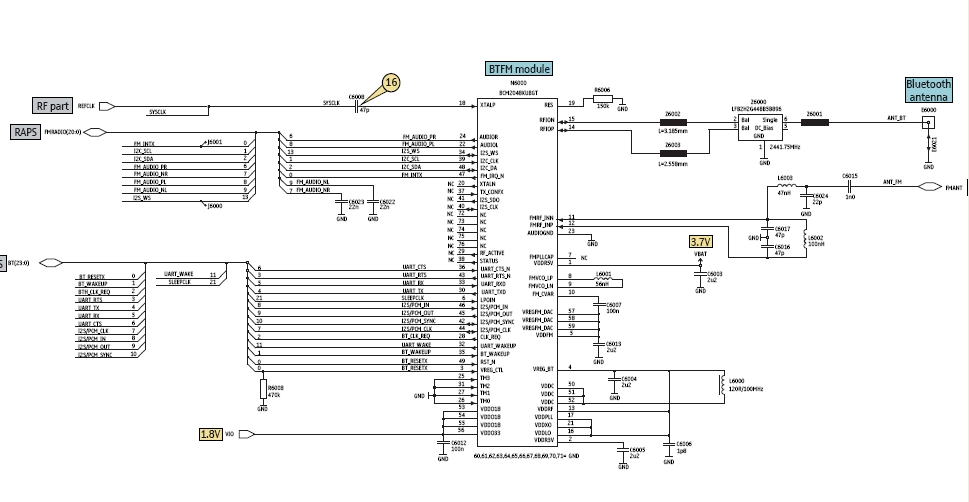 circuits > bluetooth circuit in mobile phones l  next.gr, wiring diagram