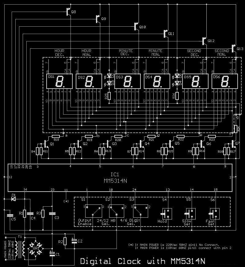 clock circuit meter counter circuits