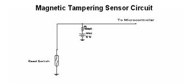 magnetic tampering - schematic