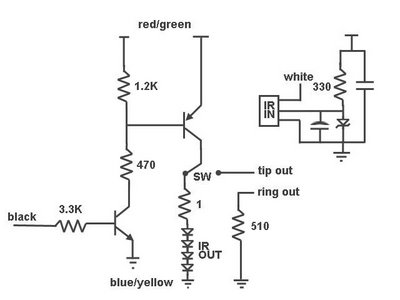 IR Remote Control Repeater - schematic