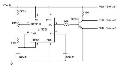 Simple servo controller Schematic - schematic