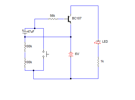SIMPLE DELAY TIMER FOR ONE MINUTE - schematic