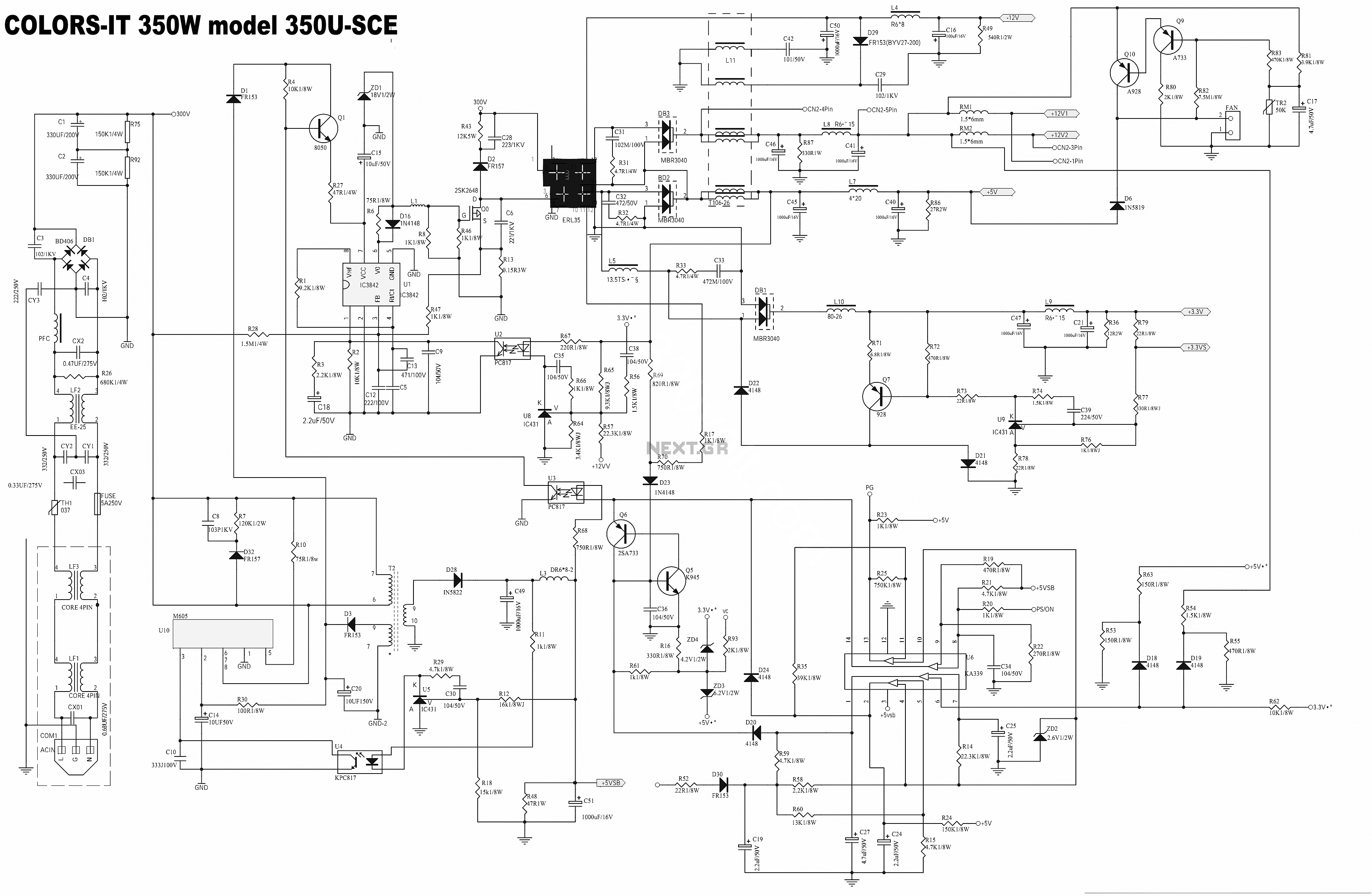 uc3842 m605 ka339 350usce smps atx circuit diagram circuit diagram uc3842b pdf circuit diagram with labels \u2022 45 63 74 91  at alyssarenee.co