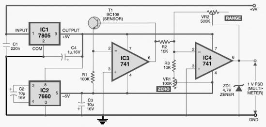 DIY Digital Thermometer - schematic
