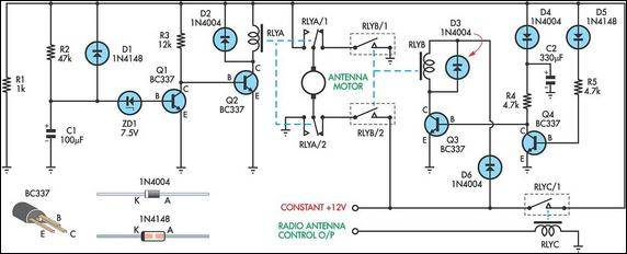 Up/Down Timer For A Power Antenna