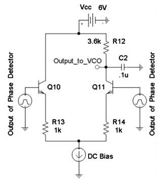 Phase Locked Loop Voltage Controlled Signal - schematic