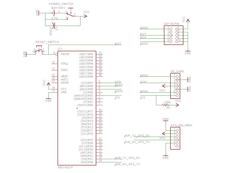 Dgps logger - schematic