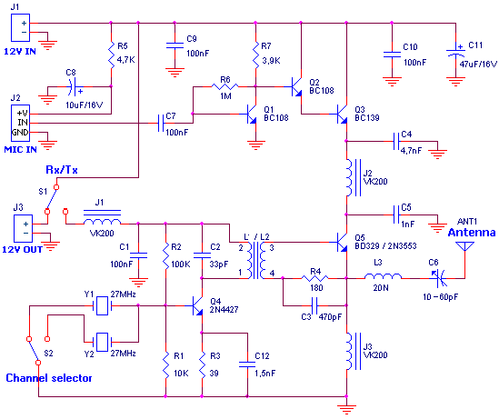 CB transmitter - schematic
