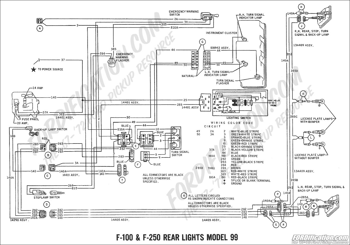 1968 Ford F100 Instrument Cluster Wiring Diagram 1955 Gt Circuits 99 Civic Courtesy Lights 1956