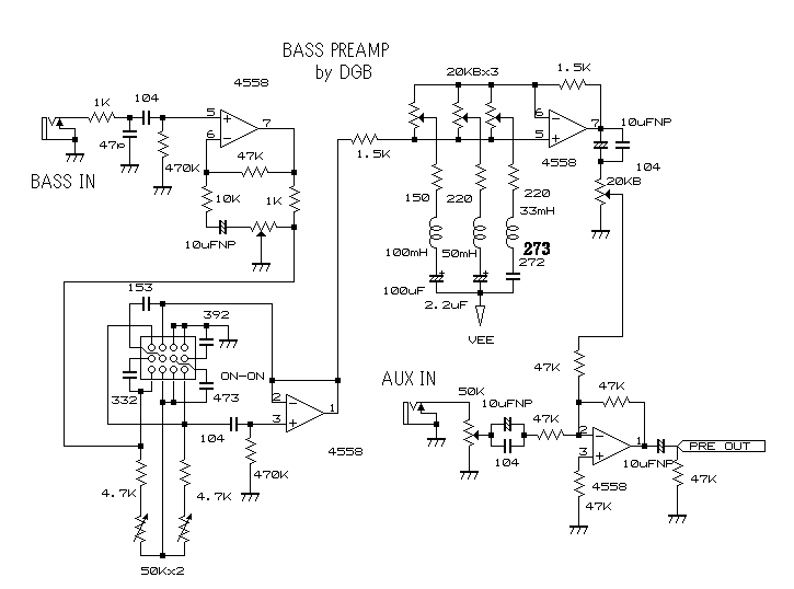 4558d Amplifier Circuit Diagram