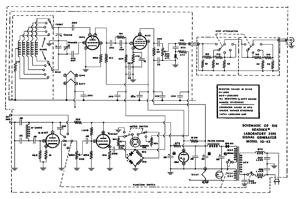 Knight Rf Generator Schematics : Heathkit ig rf generator manual repository next gr