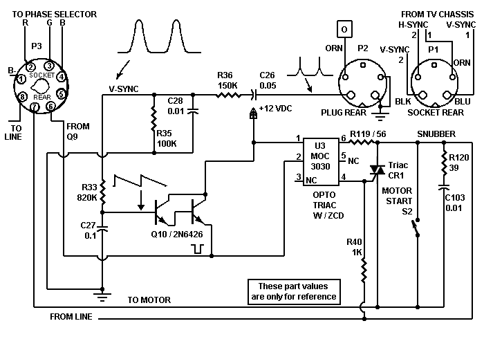 TRANSISTOR MOTOR CONTROLLER - schematic