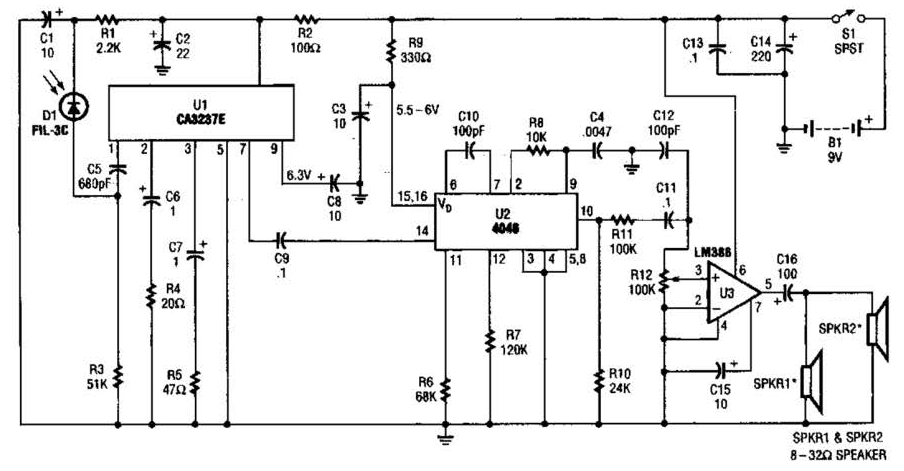 wireless ir headphone receiver circuit under repository-circuits