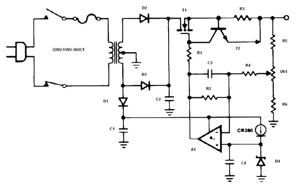Transformerless Inverter Dc To Ac Schematic on Low Voltage Battery Cut Off Circuit