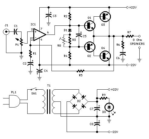 07 besides Index29 also Calc cr additionally Stereo Audio Power  lifier 11 Watt as well Using A Microphone With An Arduino. on amplifier circuit design