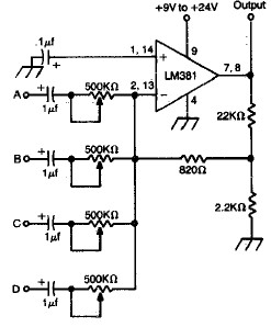 Relays likewise Audio Limiter Circuit Schematic as well Motorcontrols as well Car Fuse Box Connectors further Infra Red Proximity Detector. on input output wiring diagram