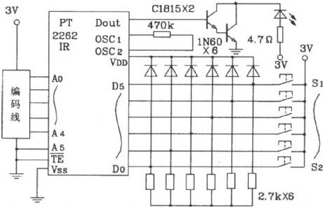 PT2272 Remote Control Decoder - schematic