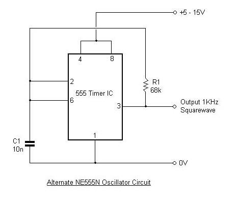 NE555 Timer - schematic