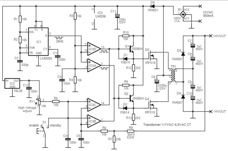 adjustable high voltage power supply under repository-circuits