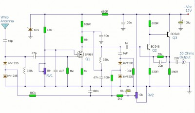 Booster Antenna Circuit 550Khz to 1650Khz