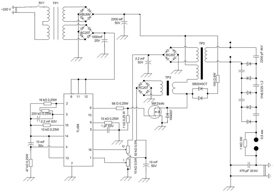 Digital 5v Power Supply Using Ic L296