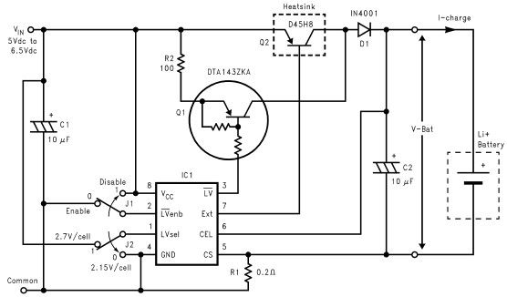 Lithium Ion charger circuit using LM3632