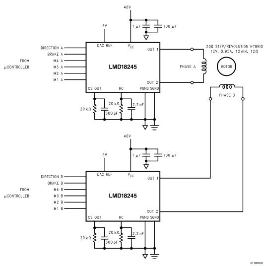 Stepper motor circuit page 4 automation circuits for Bipolar stepper motor driver