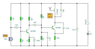 mini fm transmitter circuit