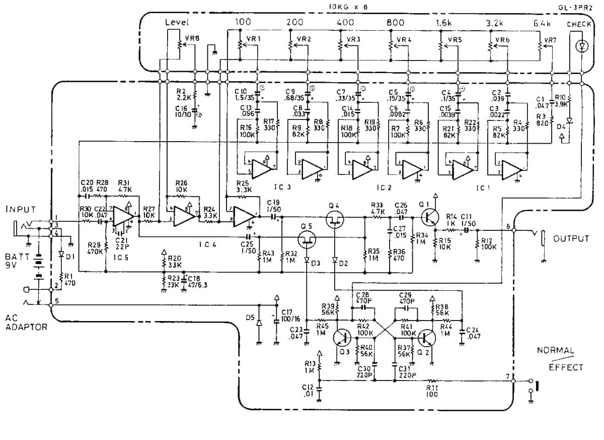 boss ge-7 equalizer guitar pedal schematic diagram under repository-circuits
