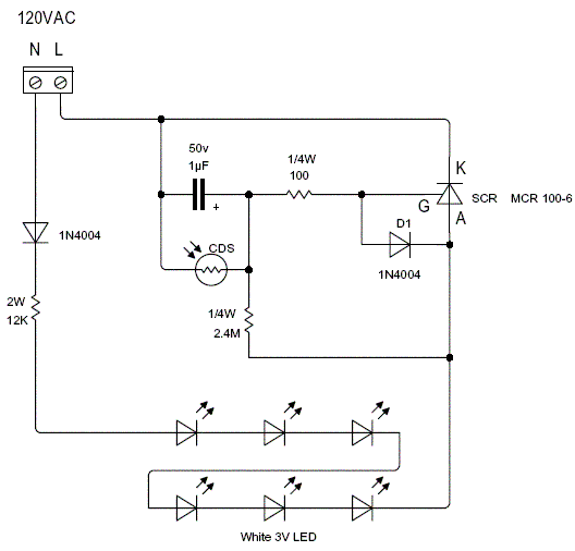 automatic night light circuit pdf