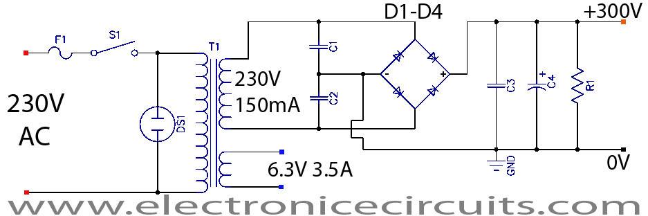 Guitar tube amp circuit diagram