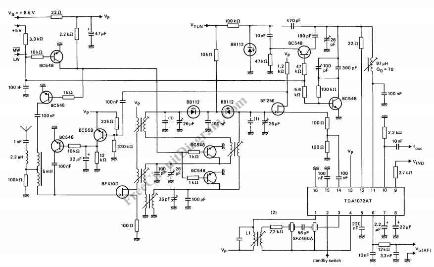 radio circuit diagram  u2013 powerking co