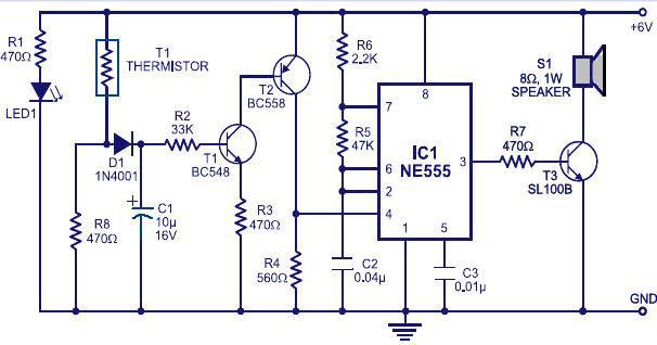 ne555 circuit  - schematic