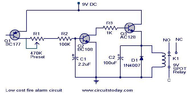 Fire Alarm: Simple Fire Alarm Circuit