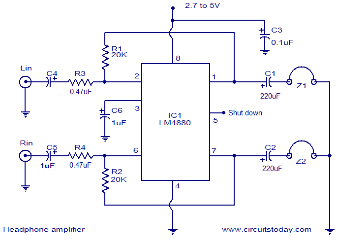 HiFi headphone amplifier circuit