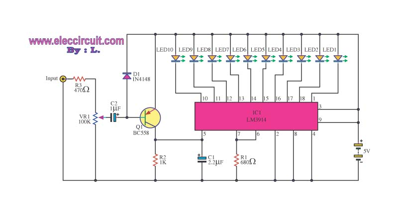 led circuit page 11 light laser led circuits next grled light based music circuit with lm3914