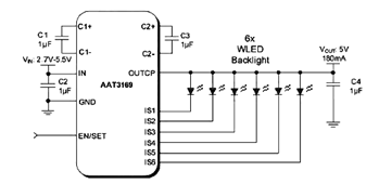 Drive Two-Six White LEDs (WLEDs) in Parallel