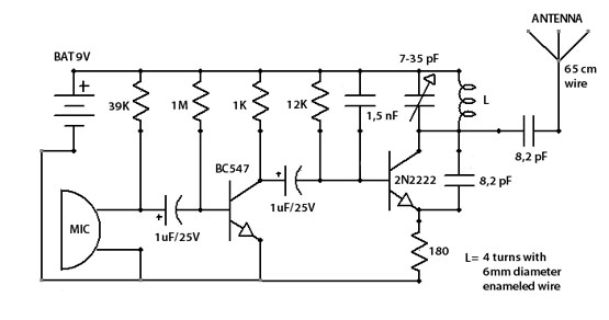 transmitter circuit page 4 rf circuits next grsensitive fm transmitter bug