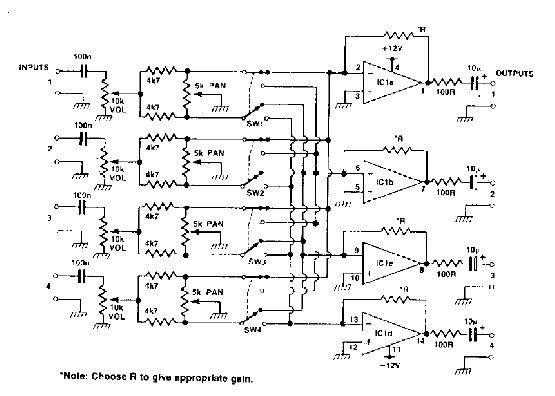 audio mixer circuit page 4 audio circuits. Black Bedroom Furniture Sets. Home Design Ideas