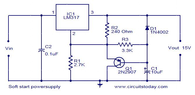 Power supply page 24 power supply circuits for Motor soft starter circuit diagram