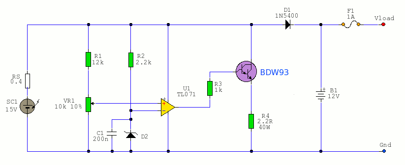 solar cell circuit  power supply circuits  next.gr, circuit diagram