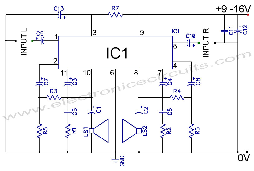 TDA2004 Car Stereo Amplifier Circuit