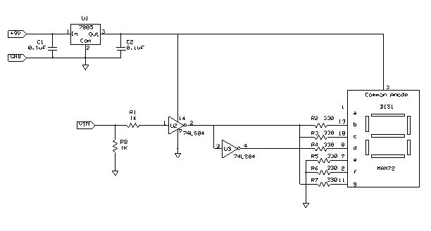 Logic Probe Circuit Schematic Diagram - schematic