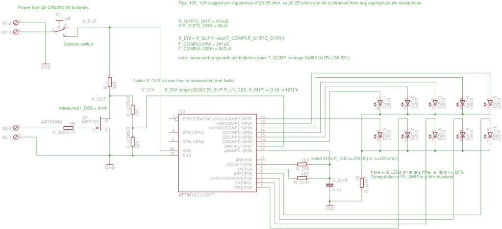 Microcontroller interface electrometer - schematic