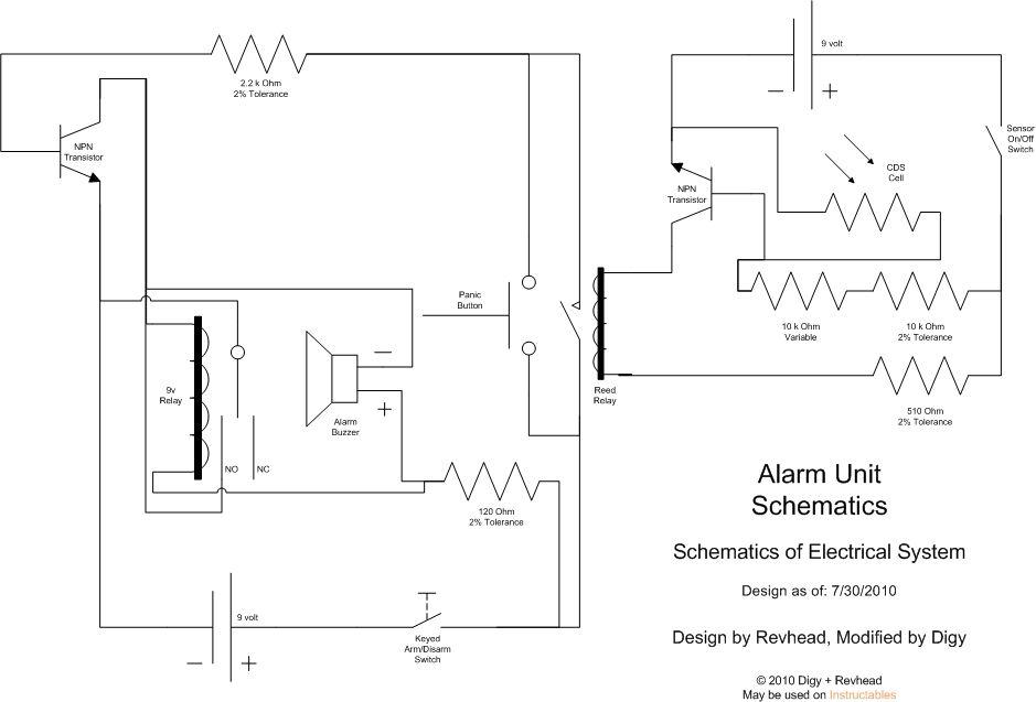 Laser Perimeter Alarm - schematic