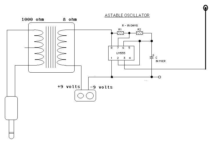 555 Am TransmitterCircuits - schematic