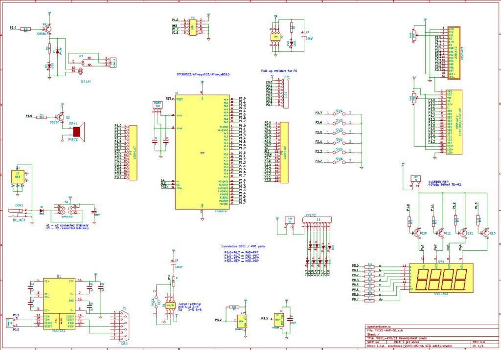 u0026gt  circuits  u0026gt  avr 51 development board l45682