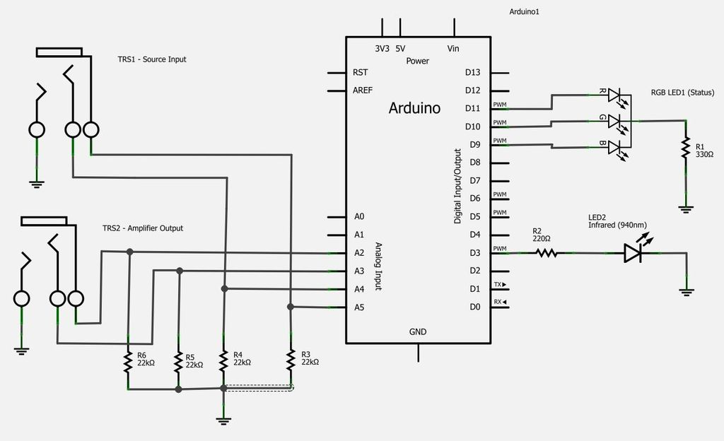 Turning Stereo Amplifer On and Off automatically - schematic